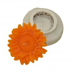 Niral Silicone Rubber Sunflower Candles Molds  - 95 gm