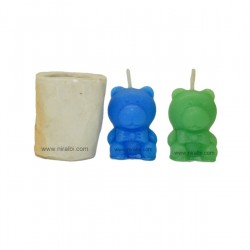 Niral Teddy Pillar Candle Mould