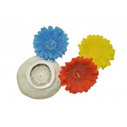 Niral Aster Silicone Flower Candle  Mould