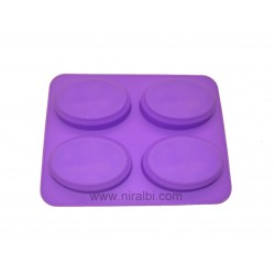 Plaing Girl In Oval Shape Niral Rubber Soap Mould