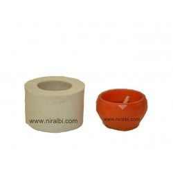 Small 3D Design Hurricane Silicone Candle Mould