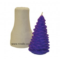 Large X-Mass Tree Silicone Rubber Candle Mould