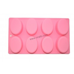 Niral Industries Tray Type Rubber Oval Soap Mold