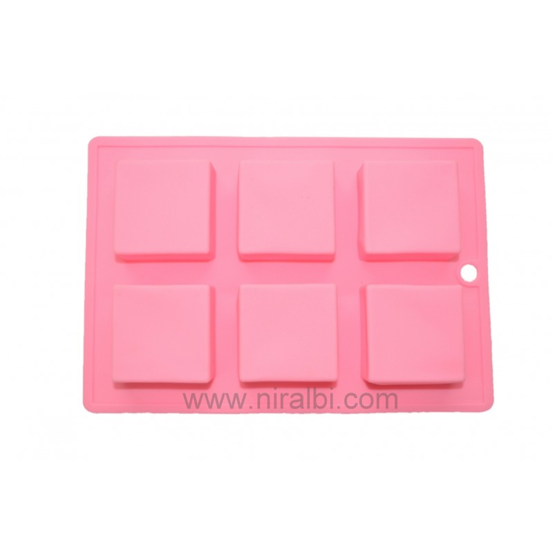 Square Shape Niral Rubber Bath Soap, Chocolate, Cakes Making Mould