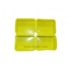 4 Cavity Plain Rectangle Shape Soap Mould
