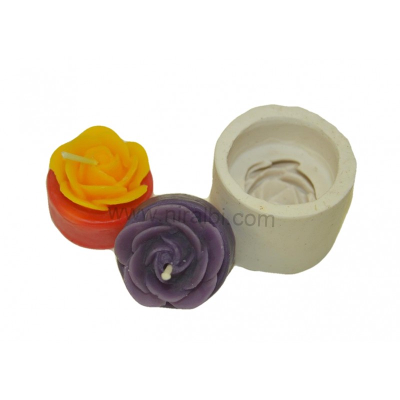 Rose Flower Cum T-Light Csilicone candle mould