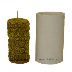 Heart & Rose Flower Silicone  Candle Mould
