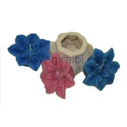 Niral Industries Rose Flower Candle Mould