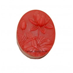 Lotus With Leaf Designer Rubber Soap Making Mold