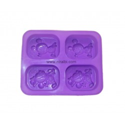 3D Mickey & Minnie Mouse Designer Soap Mould
