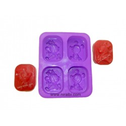 Mickey And Minnie Mouse Soap Making Rubber Mold