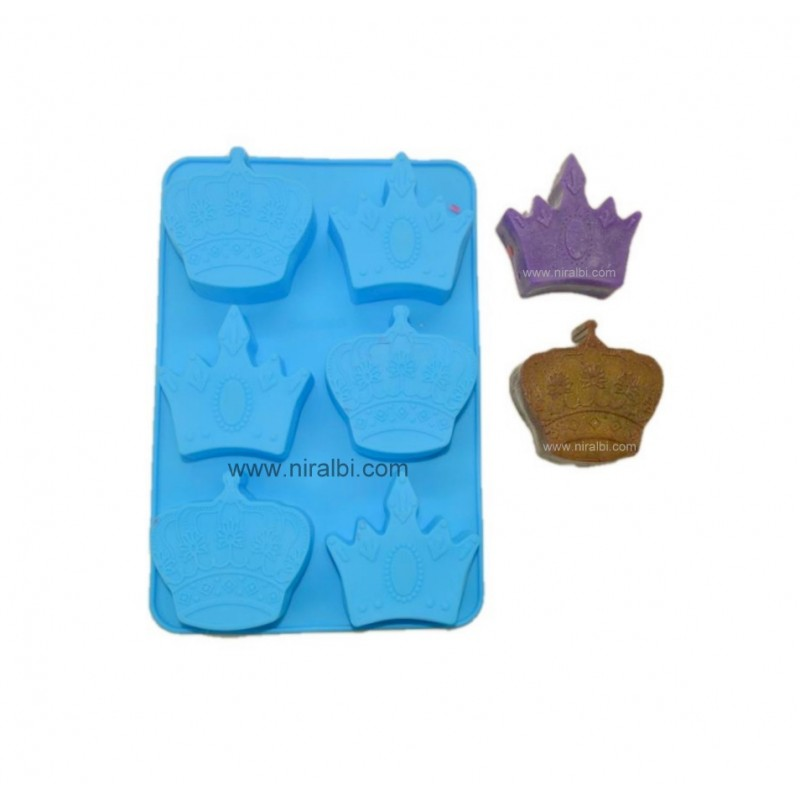 King Crown 6 Cavity Soap Mold