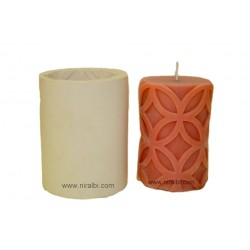 Designer Pillar Candle Mould with Geaometry type Circle design