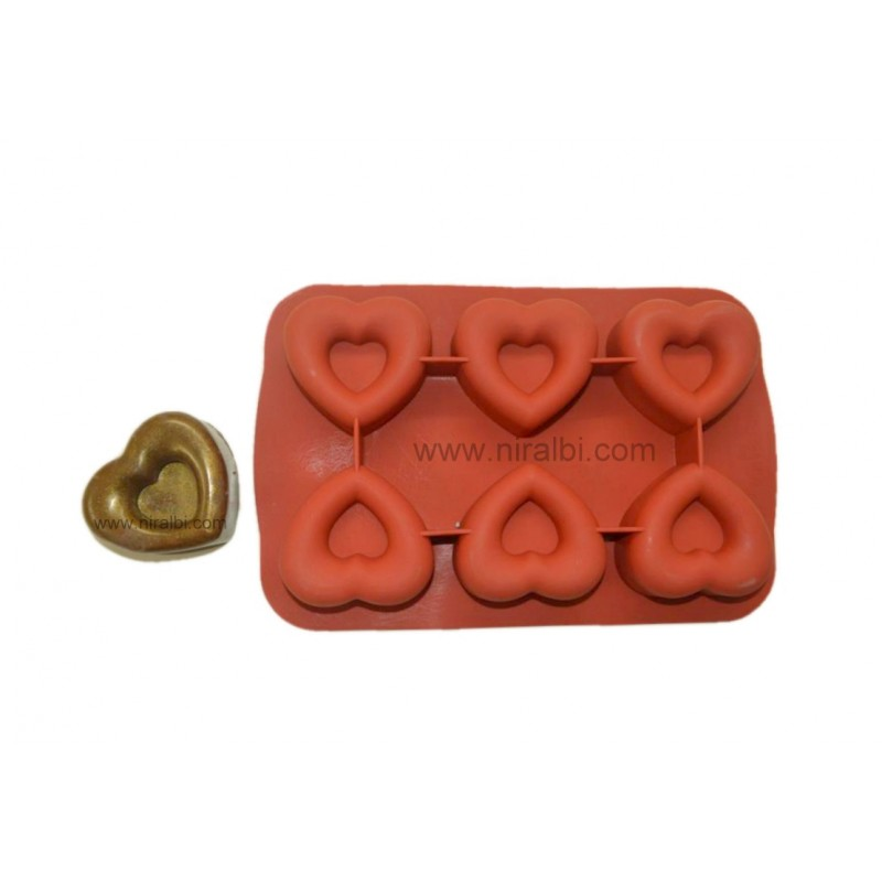 Niral Industries, Designer Double Heart Soap Making Mold SP32190