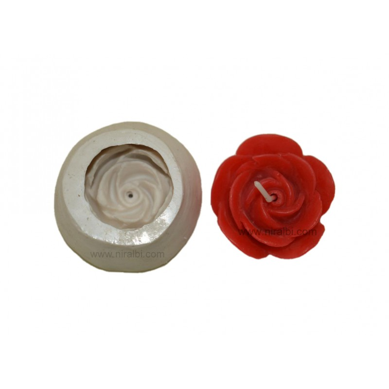 Rose Flower Candle Mould