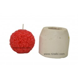 Rose Ball Silicone Candle Making Mold