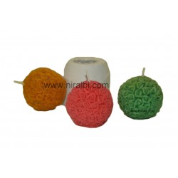Small Rose Ball Rubber Mould, Weight - 60 gm, Niral Industries