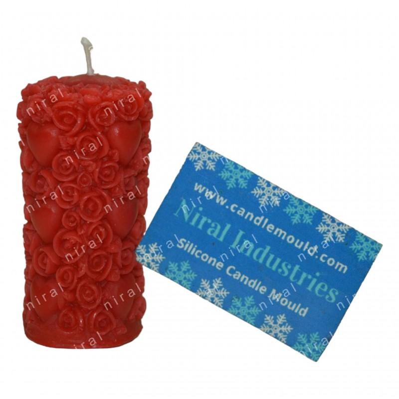 Designer Rose Flower Ball Candle Mould, SL290