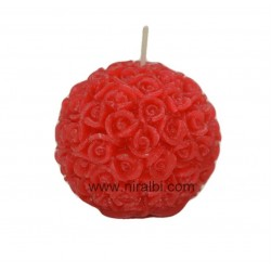Crafted Flower Rose Ball Candle Mold