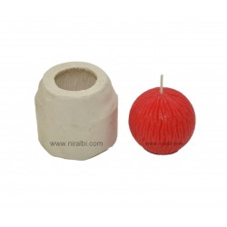 Line Design Ball Rubber Candle Mold, SL293