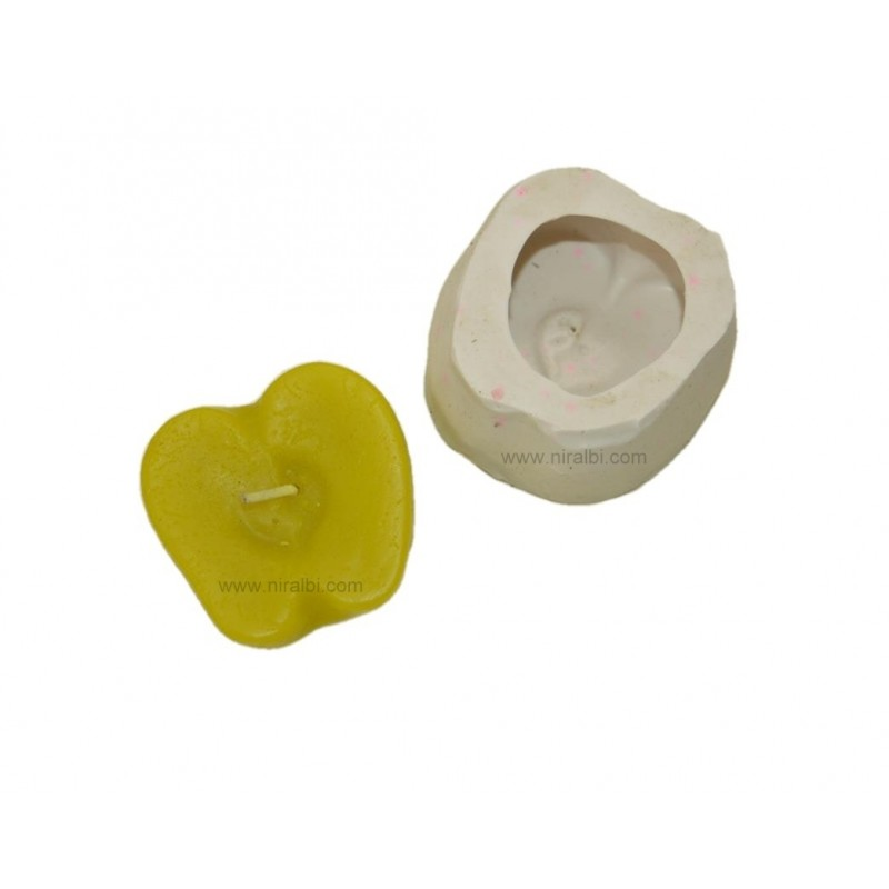 Half Cutted Design Apple Candle Mould