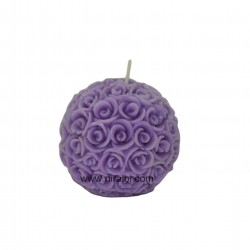Silicone Rose Flower Ball Candle Making Mould