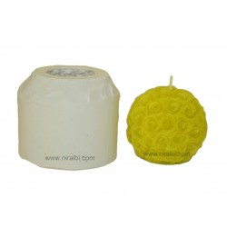 Attractive Rose Flower Rubber Candle Mold