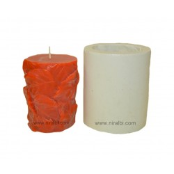 SL300, Leaf Pillar Silicone Candle Mould