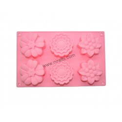 Designer Flower Malti Cavity Soap Mold