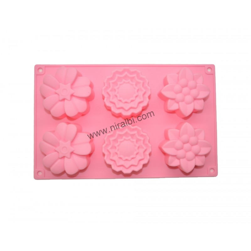 Designer Flower Malti Cavity Soap Mold