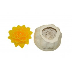 Triangle Petals Designer Silicone Candle Mould, Hobby, Crafting, 3D Design, Niral Industries
