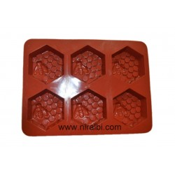 Honey bee With Comb Niral Tray Silicone Mould