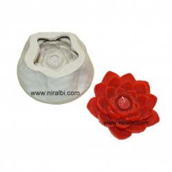Designer Lotus Flower Silicone Candle Mould - SL558 Niral Industries