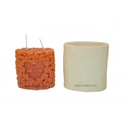 Rose Love Silicone Candle Mould - SL523 Niral Industries
