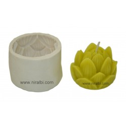 Lotus Flower Silicone Candle Mould, Order Online Niral Industries