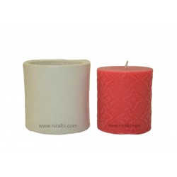 Small Designer Pillar Silicone Candle Mould - SL524 Niral Industries