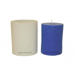 Medium Designer Pillar Silicone Candle Mould - SL525 Niral Industries