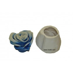Heart Rose Designer Floating Silicone Candle Mould, Order Online Niral Industries
