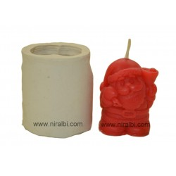 Santa Claus Pillar Big size Candle Mold, home made, giftings, offers