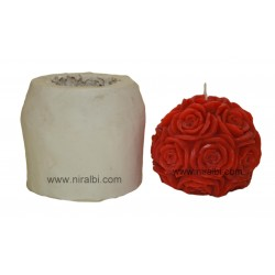 Big Rose Ball Candle Mould, Order Online Niral Industries