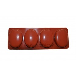 Small Curved Oval 4 Cavity Niral Rubber Soap Mould