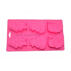 Santa Design 6 Cavity Soap Mould