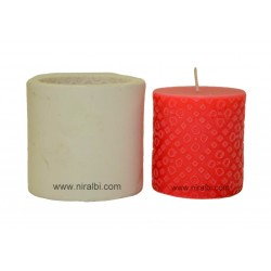 Small Bandini Designer Pillar Silicone Candle Mould, Buy Online Now