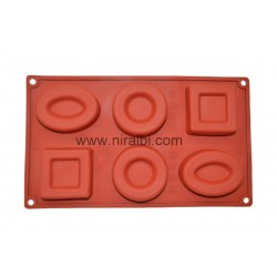 Geometry Shape Rubber Soap Mould