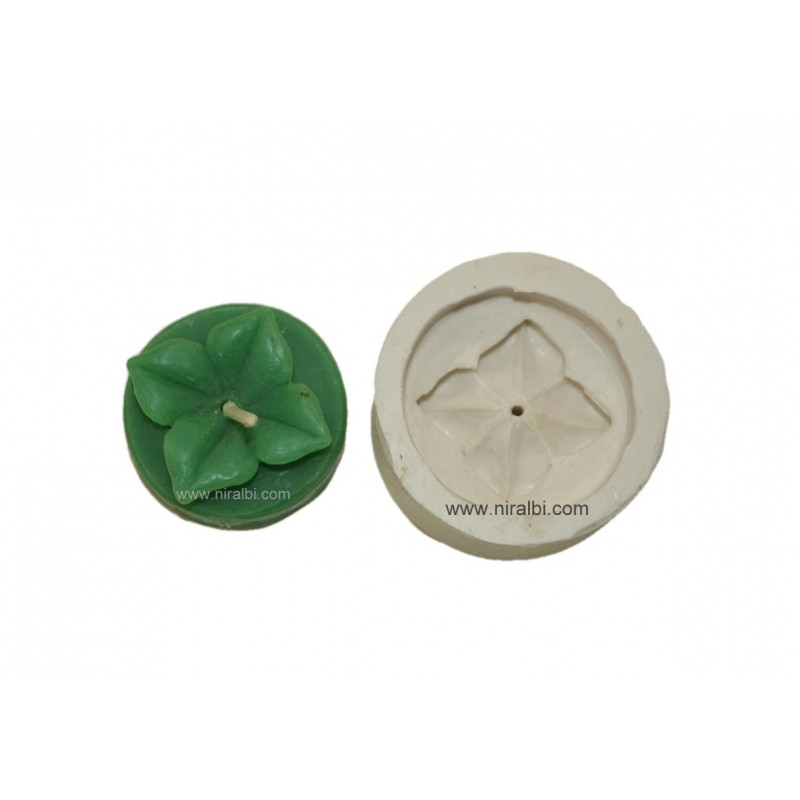 Silicone Rubber T Light Flower Candle Mould