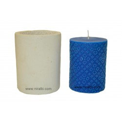 Medium Bandini Designer Pillar Silicone Candle Mould - SL537 Niral Industries