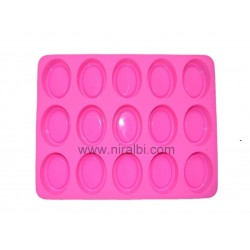 Double Oval Shape Tray Soap Making Rubber Mold