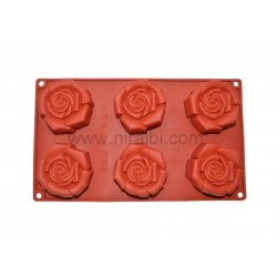Cute Big Rose Niral Soap Rubber Mould