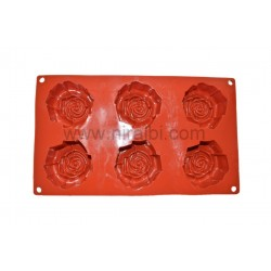 Big Rose Rubber Soap Mould