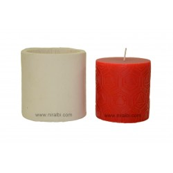 Small Pentagon In Triangle Shape Pillar Silicone Candle Mould, Buy Online Now